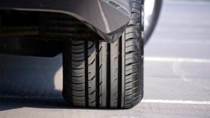 Vue d'un pneu